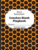 Boys Basketball Coaches Blank Playbook Dates