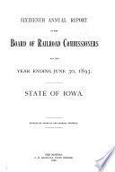 Annual Report   Iowa State Commerce Commission Book