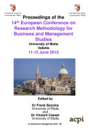 ECRM2015 Proceedings of the 14th European Conference on Research Methods 2015