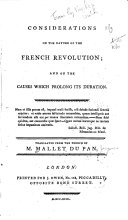 Considerations on the Nature of the French Revolution