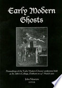 Early Modern Ghosts