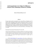 Do Reorganization Costs Matter for Efficiency? [Pdf/ePub] eBook