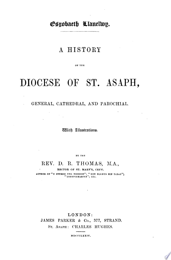 A History of the Diocese of St. Asa