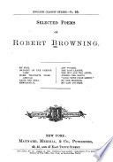 Selected Poems of Robert Browning Book