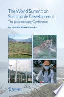 The World Summit On Sustainable Development Book PDF