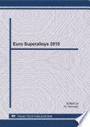 Euro Superalloys 2010 Book