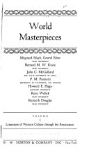 Literature of Western culture through the Renaissance