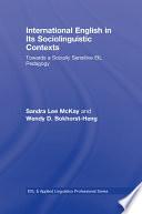 International English In Its Sociolinguistic Contexts