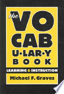"""""""The Vocabulary Book: Learning & Instruction"""" by Michael F. Graves"""