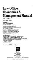 Law Office Economics   Management Manual