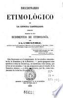 Diccionario etimológico de la lengua castellana