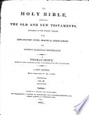 The Holy Bible With Explanatory Notes By Thomas Scott A New Edition With Corrections By The Author
