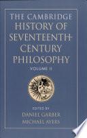 The Cambridge History of Seventeenth century Philosophy Book
