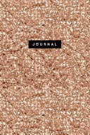 Journal  Luxury Rose Gold Notebook  120 Page Lined Sparkly Glitter Effect