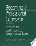 Becoming a Professional Counselor Book