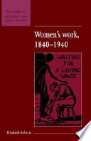 Women s Work  1840 1940 Book