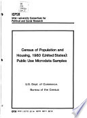 Census of Population and Housing  1980  United States