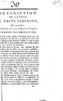 Description de la fête du pacte fédératif du 14 juillet