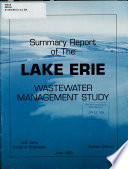 Summary Report of the Lake Erie Wastewater Management Study