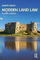 Modern land law / Martin Dixon
