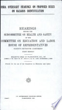 OSHA Oversight Hearings on Proposed Rules on Hazards Identification
