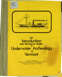 An Introduction and Resource Guide to Underwater Archeology in Vermont