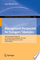 Management Perspective for Transport Telematics