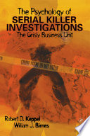 The Psychology of Serial Killer Investigations Book