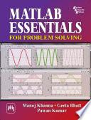 Matlab Essentials For Problem Solving Book PDF