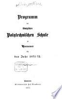 Programm der Königlichen Polytechnischen Schule zu Hannover