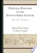 Political Populism in the Twenty First Century