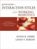 Quick Guide To Interaction Styles And Working Remotely