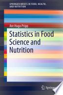 Statistics in Food Science and Nutrition Book