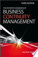 """""""The Definitive Handbook of Business Continuity Management"""" by Andrew Hiles"""