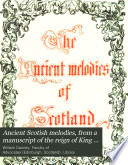 Ancient Scotish Melodies Book