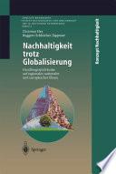 Nachhaltigkeit trotz Globalisierung