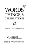 Words  Things    Celebrations