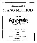 Karl Merz' piano method