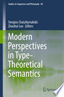 Modern Perspectives in Type Theoretical Semantics