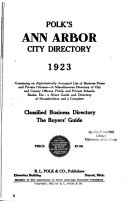 Ann Arbor City Directories