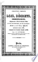 Collection complète des lois, décrets, ordonnances, règlemens avis du Conseil d'état, publiée sur les éditions officielles du Louvre