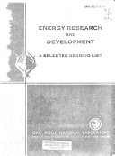 Energy Research and Development Book
