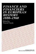 Finance and Financiers in European History 1880 1960