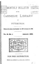 Monthly Bulletin of the Carnegie Library of Pittsburgh