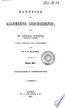 Handboek Der Algemeene Geschiedenis