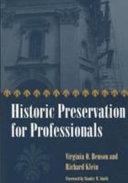 Historic Preservation For Professionals Book PDF