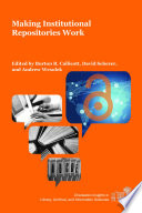 Making Institutional Repositories Work Book PDF