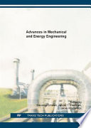Advances in Mechanical and Energy Engineering