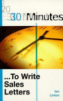 30 Minutes   to Write Sales Letters