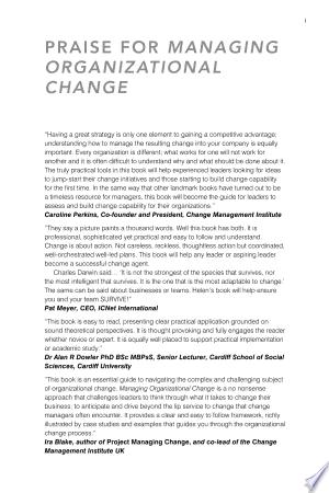Download Managing Organizational Change Free Books - Dlebooks.net